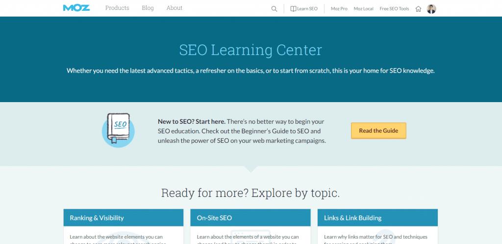 Centro de aprendizaje SEO