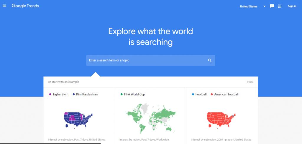 nuevo diseño de google trends